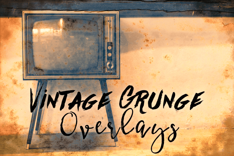 Vintage Grunge Photo Texture Overlays
