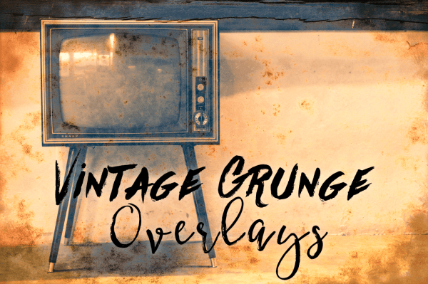 Vintage Grunge Photo Texture Overlays
