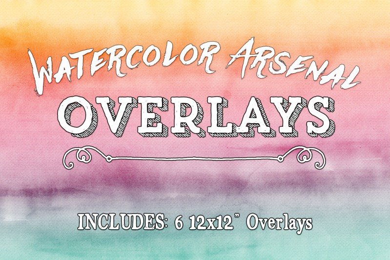 Watercolor Arsenal Texture Overlays