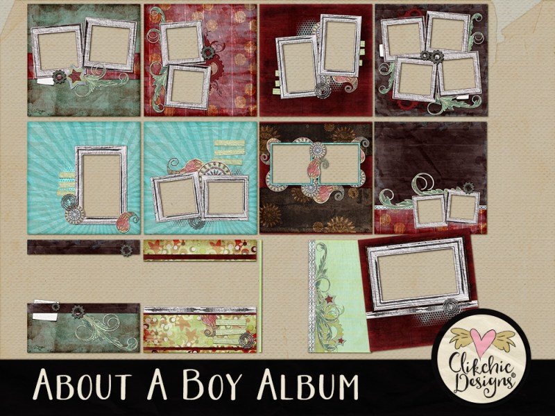 About A Boy Quick Page Digital Scrapbook Album