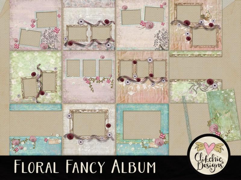 Floral Fancy Digital Scrapbook Quick Page Album