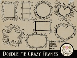 Doodle Me Crazy Frames & Photoshop Brushes