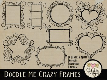 Doodle Me Crazy Frames and Photoshop Brushes