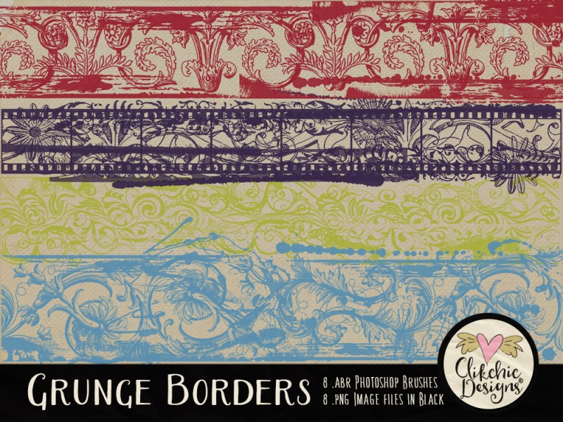 Grunge Borders Photoshop Brushes