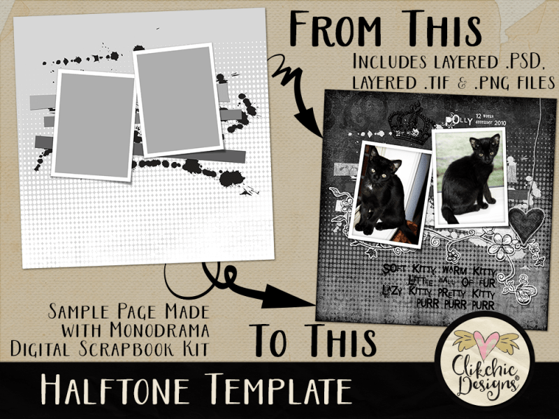 Halftone Layered Photoshop Template