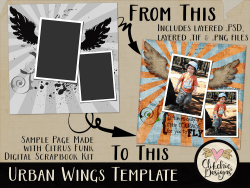 Urban Wings Layered Photoshop Template