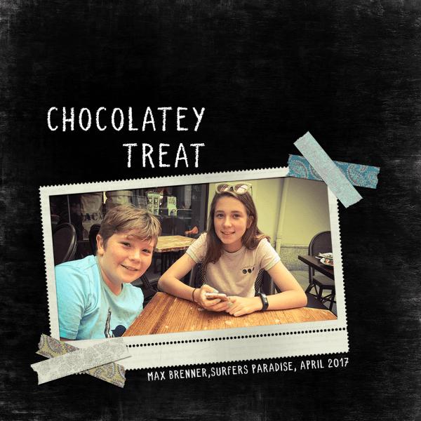 Chocolatey Treat Digital Scrapbook Layout
