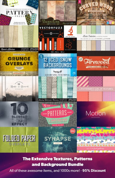 High Quality Textures, Backgrounds and Patterns Deal