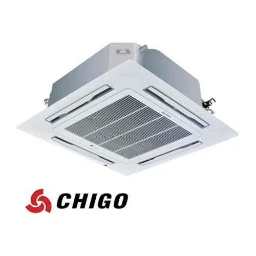 Инверторен климатик Chigo касетен тип CCA-48HVR1 на ВИП цена от Clima.VIP