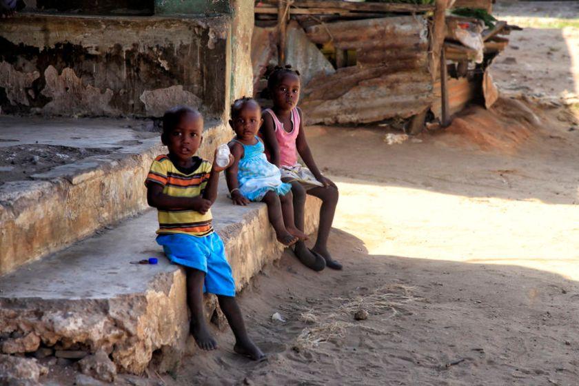 Group of african children from Ukunda, Kenya. Africa