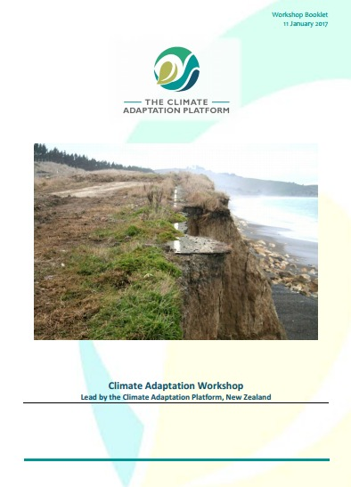 Climate Adaptation Washington Workshop Booklet cover