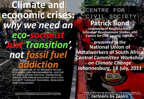 Opening slide of Patrick Bond talk