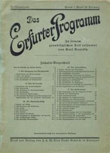 Karl Kautsky's widely-read 1892 commentary on the Erfurt Program