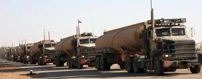US military oil tank trucks