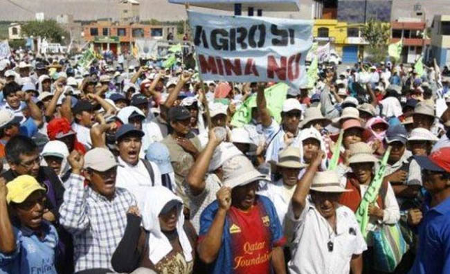 Protest against proposed Tia Maria copper mine