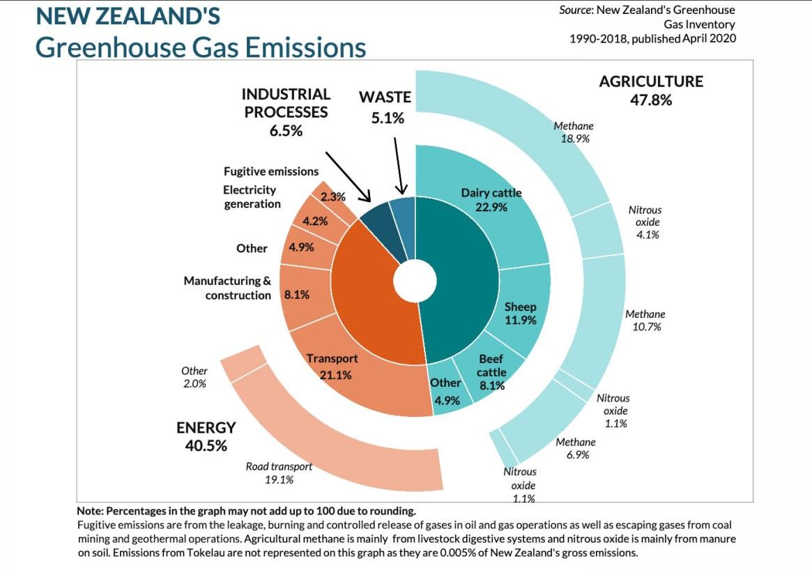 NZ greenhouse gas emissions