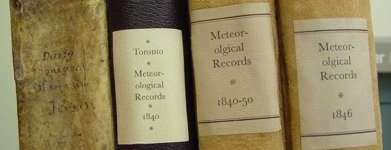 Fig. 3: Written records going back hundreds of years provide crucial evidence of what the climate was like in the past. (Image: Historical Climate Data Canada)