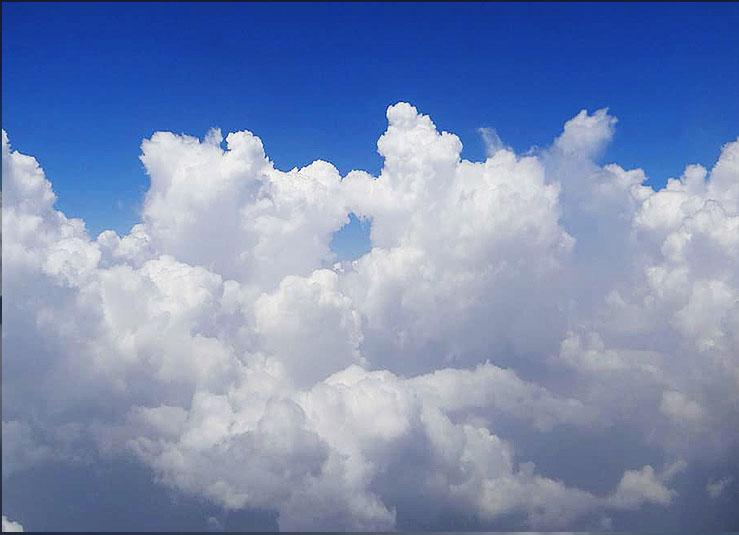 Fig. 1: Stratocumulus clouds