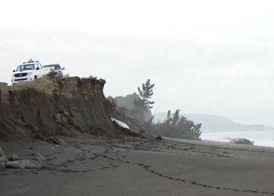 Fig. 1: Coastal erosion North Canterbury (Image: Whitelaw)