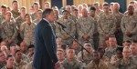Secretary of Defense the Honorable Leon Panetta addresses service members at Camp Lemonnier, Djibouti.  (U.S. Air Force photo by Staff Sgt. Marc I. Lane/Released)