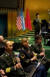 """Friendship and Cooperation Through Music."" Collaboration between musicians from the US and Chinese Armies."