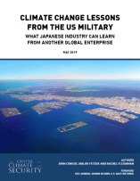 Climate Change Lessons From the US Military_For Japanese Industry_Cover_2019_5