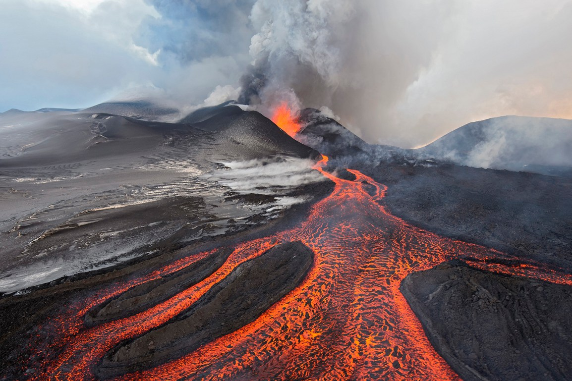 05 Dec 2012, Russia --- Tolbachik Volcano erupting, Kamchatka, Russia --- Image by © Sergey Gorshkov/Minden Pictures/Corbis