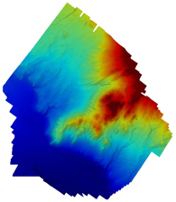 Elevation map created from drone data.