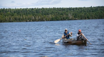 Paddling out on Sargent Lake.