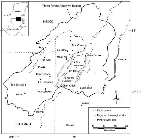 Map of Tikin Ha.