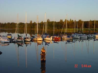 Commercial fishing boats on Lake Winnipeg