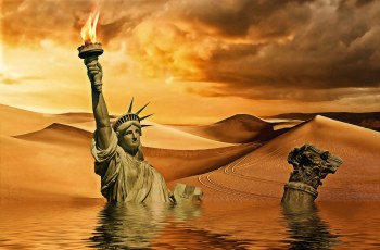 disaster apocalypse climate liberty statue