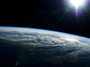 nuages ??de soleil de la terre