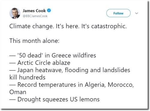 james cook bbc tweet catastrophic weather
