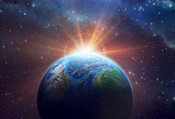earth sun rise