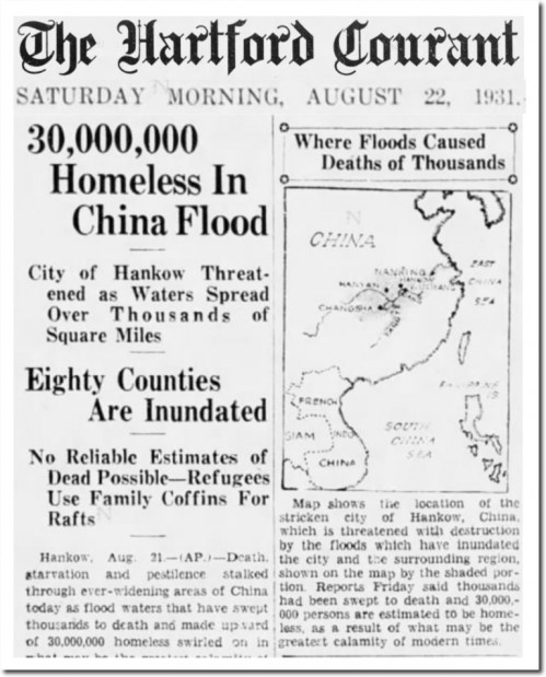 hartford courant china flood 1931