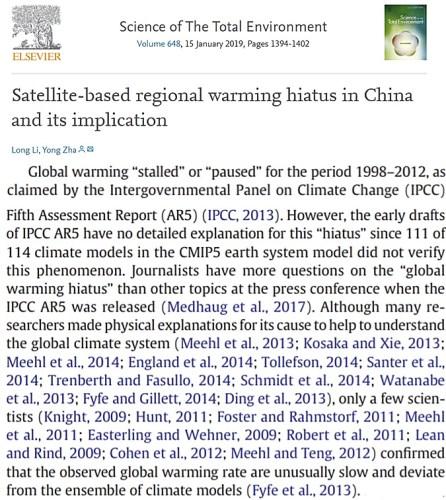 global warming pause Li And Zha paper