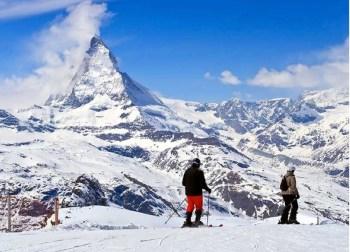 Italian Alps skiing