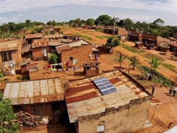 Africa solar-powered village