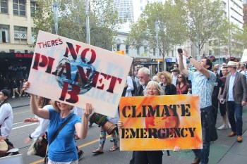 Climate Emergency protest