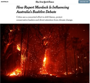 nytimes rupert murdoch climate