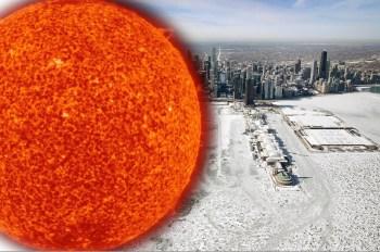 sun frozen ground