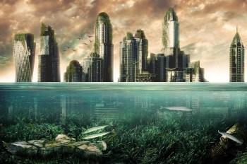 city underwater sea levels