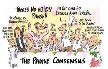 cartoon pause consensus