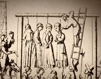 salem witch trials hanging
