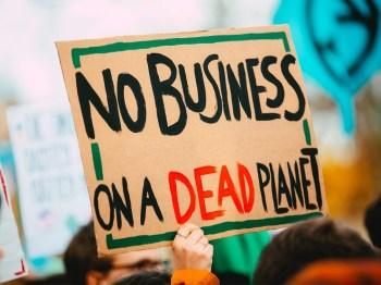 climate protest dead planet