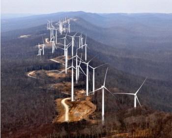 mountaintop wind farm