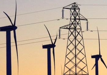 wind farm power lines