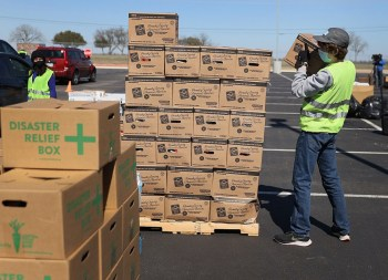 disaster relief workers