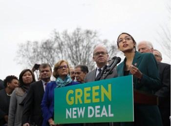 aoc politicians green deal
